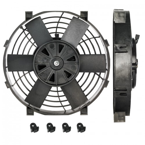 9 INCH 12V LOW PROFILE HIGH PERFORMANCE THERMO FAN 12VOLT FREE SHIPPING