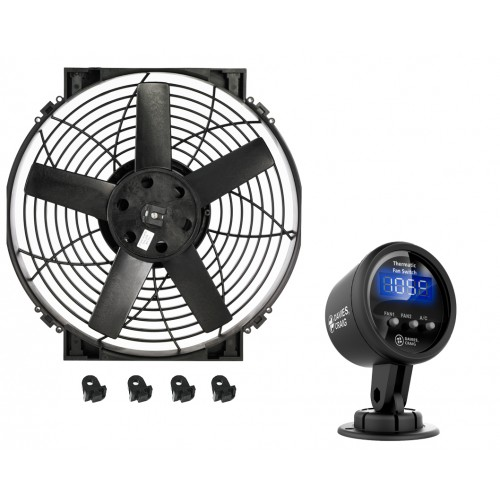 """14"""" Brushless Thermatic® Fan + #0500 Switch (12 Volt)  (0015)"""