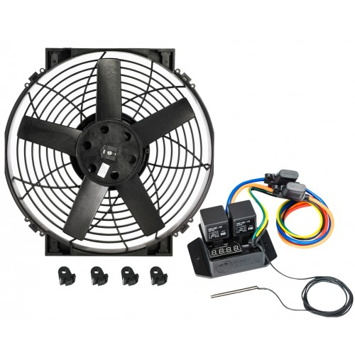 """14"""" Brushless Thermatic® Fan + #0444 Switch (12 Volt)  (0025)"""